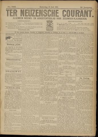 Ter Neuzensche Courant. Algemeen Nieuws- en Advertentieblad voor Zeeuwsch-Vlaanderen / Neuzensche Courant ... (idem) / (Algemeen) nieuws en advertentieblad voor Zeeuwsch-Vlaanderen 1916-07-15