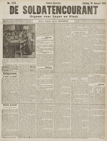 De Soldatencourant. Orgaan voor Leger en Vloot 1916-01-16