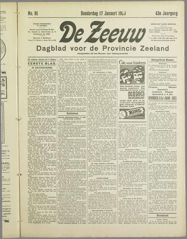 De Zeeuw. Christelijk-historisch nieuwsblad voor Zeeland 1929-01-17