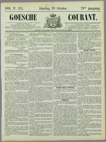 Goessche Courant 1891-10-20