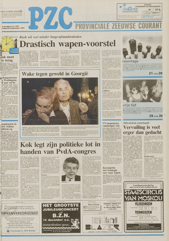 Provinciale Zeeuwse Courant 1991-09-28