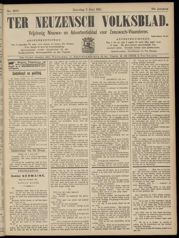 Ter Neuzensch Volksblad. Vrijzinnig nieuws- en advertentieblad voor Zeeuwsch- Vlaanderen / Zeeuwsch Nieuwsblad. Nieuws- en advertentieblad voor Zeeland 1911-06-03