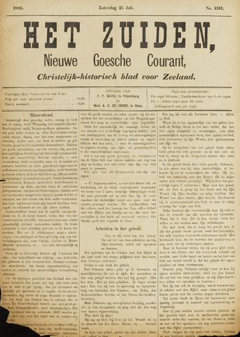 Het Zuiden, Christelijk-historisch blad 1885-07-25