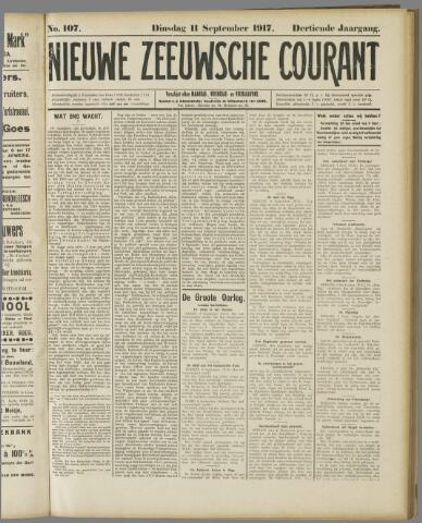 Nieuwe Zeeuwsche Courant 1917-09-11