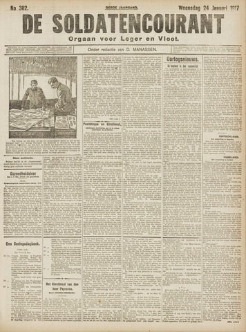 De Soldatencourant. Orgaan voor Leger en Vloot 1917-01-24
