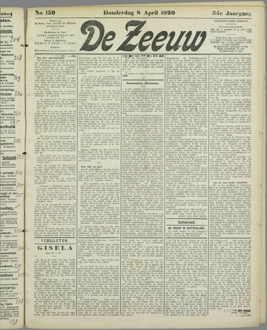 De Zeeuw. Christelijk-historisch nieuwsblad voor Zeeland 1920-04-08