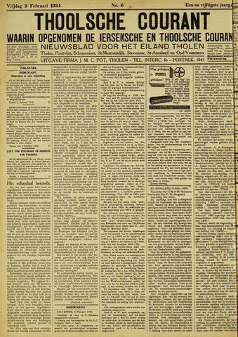 Ierseksche en Thoolsche Courant 1934-02-09