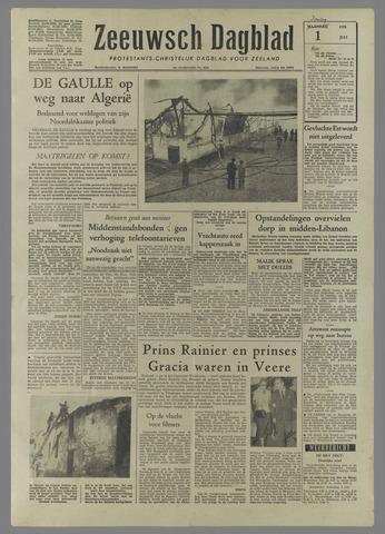 Zeeuwsch Dagblad 1958-07-01