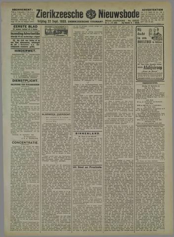 Zierikzeesche Nieuwsbode 1933-09-22