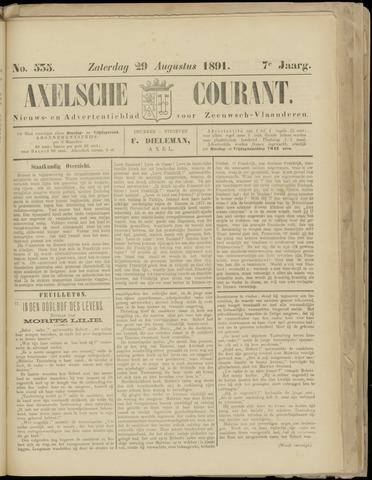 Axelsche Courant 1891-08-29