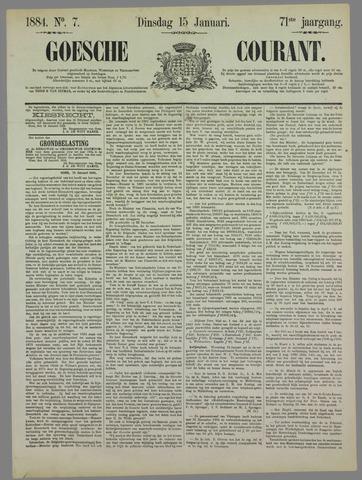 Goessche Courant 1884-01-15
