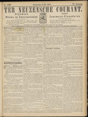 Ter Neuzensche Courant. Algemeen Nieuws- en Advertentieblad voor Zeeuwsch-Vlaanderen / Neuzensche Courant ... (idem) / (Algemeen) nieuws en advertentieblad voor Zeeuwsch-Vlaanderen 1911-07-06