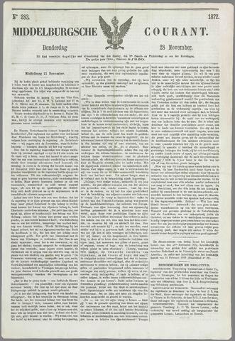 Middelburgsche Courant 1872-11-28