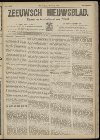 Ter Neuzensch Volksblad. Vrijzinnig nieuws- en advertentieblad voor Zeeuwsch- Vlaanderen / Zeeuwsch Nieuwsblad. Nieuws- en advertentieblad voor Zeeland 1918-10-02