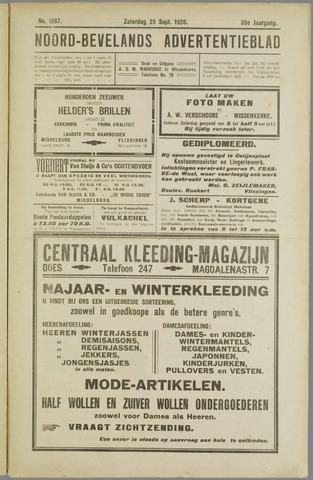 Noord-Bevelands Nieuws- en advertentieblad 1928-09-29