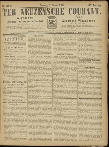 Ter Neuzensche Courant. Algemeen Nieuws- en Advertentieblad voor Zeeuwsch-Vlaanderen / Neuzensche Courant ... (idem) / (Algemeen) nieuws en advertentieblad voor Zeeuwsch-Vlaanderen 1896-03-28