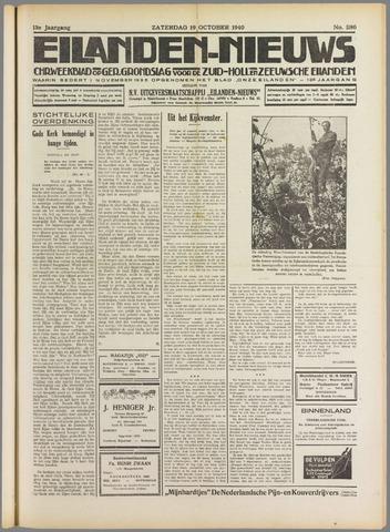 Eilanden-nieuws. Christelijk streekblad op gereformeerde grondslag 1940-10-19