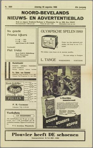 Noord-Bevelands Nieuws- en advertentieblad 1960-08-20
