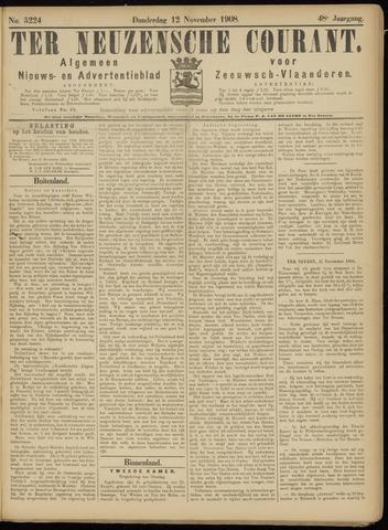 Ter Neuzensche Courant. Algemeen Nieuws- en Advertentieblad voor Zeeuwsch-Vlaanderen / Neuzensche Courant ... (idem) / (Algemeen) nieuws en advertentieblad voor Zeeuwsch-Vlaanderen 1908-11-12