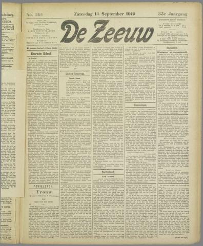 De Zeeuw. Christelijk-historisch nieuwsblad voor Zeeland 1919-09-13