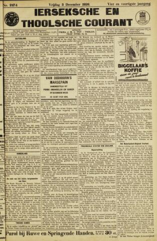 Ierseksche en Thoolsche Courant 1926-12-03