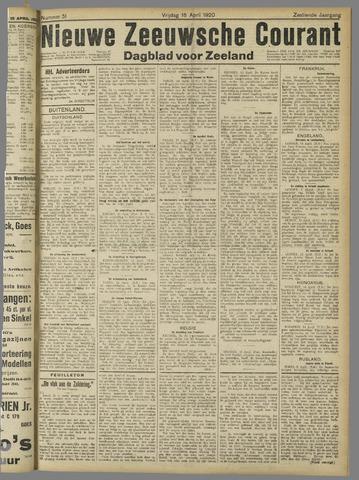 Nieuwe Zeeuwsche Courant 1920-04-16
