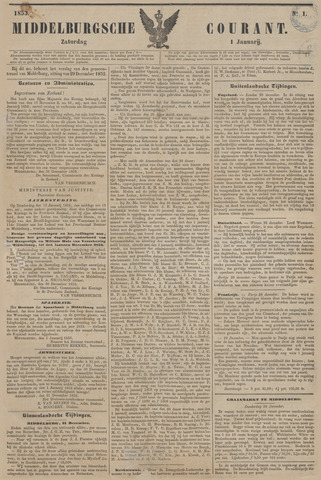 Middelburgsche Courant 1853-01-01