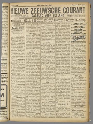 Nieuwe Zeeuwsche Courant 1923-04-21