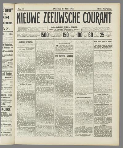Nieuwe Zeeuwsche Courant 1915-07-27