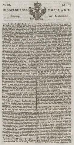 Middelburgsche Courant 1777-11-18