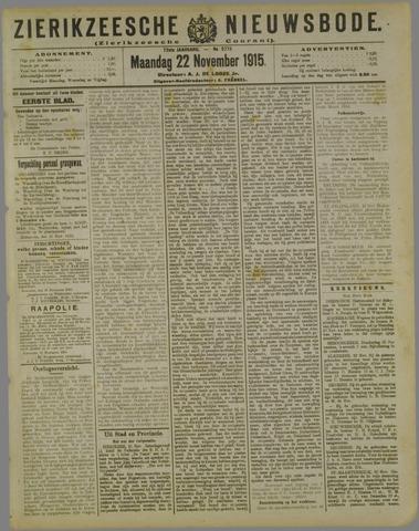 Zierikzeesche Nieuwsbode 1915-11-22
