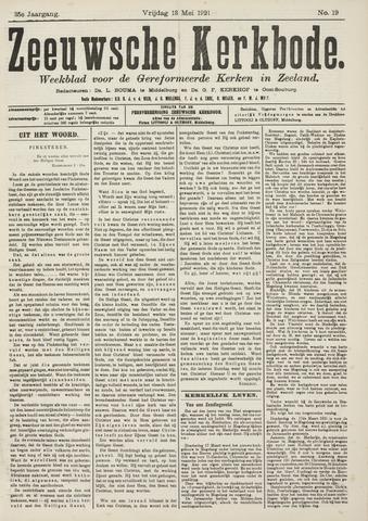 Zeeuwsche kerkbode, weekblad gewijd aan de belangen der gereformeerde kerken/ Zeeuwsch kerkblad 1921-05-13