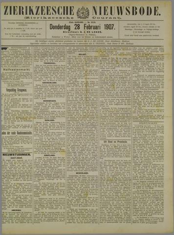 Zierikzeesche Nieuwsbode 1907-02-28