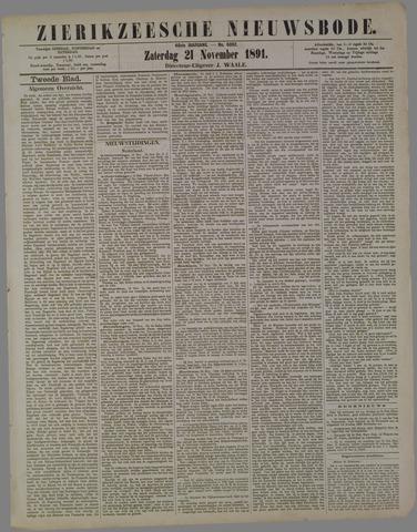 Zierikzeesche Nieuwsbode 1891-11-21