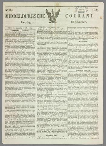 Middelburgsche Courant 1862-11-18