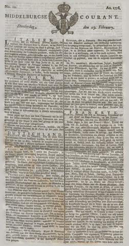 Middelburgsche Courant 1778-02-19