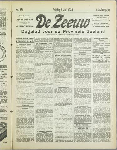 De Zeeuw. Christelijk-historisch nieuwsblad voor Zeeland 1930-07-04