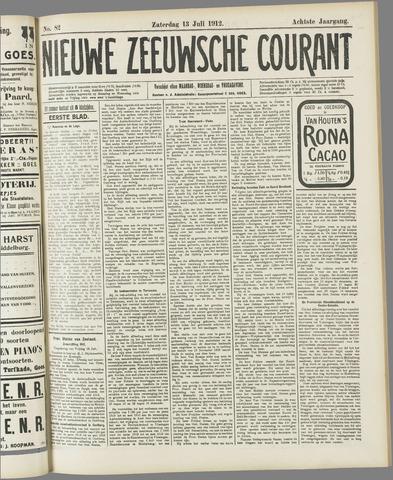 Nieuwe Zeeuwsche Courant 1912-07-13