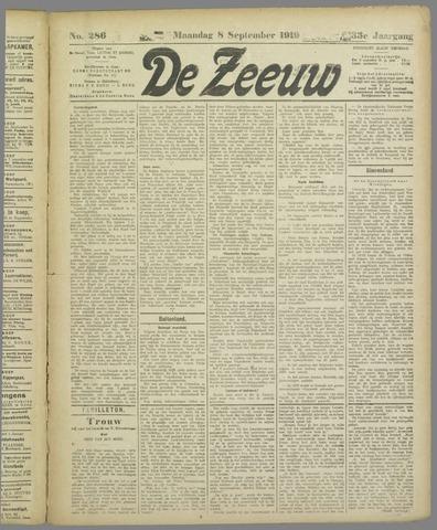 De Zeeuw. Christelijk-historisch nieuwsblad voor Zeeland 1919-09-08
