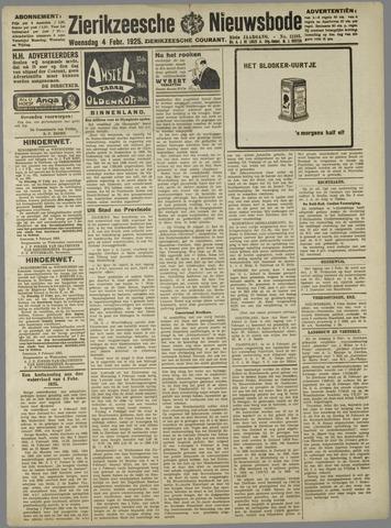 Zierikzeesche Nieuwsbode 1925-02-04