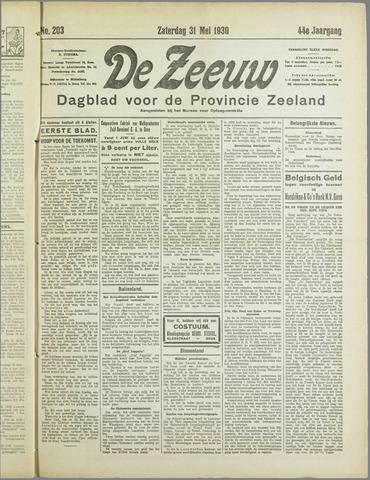 De Zeeuw. Christelijk-historisch nieuwsblad voor Zeeland 1930-05-31