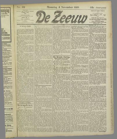 De Zeeuw. Christelijk-historisch nieuwsblad voor Zeeland 1918-11-04