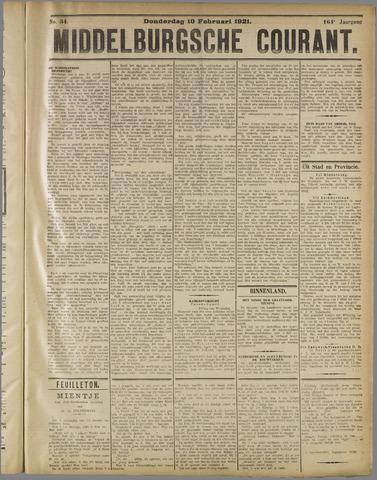 Middelburgsche Courant 1921-02-10