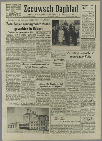 Zeeuwsch Dagblad 1958-06-16
