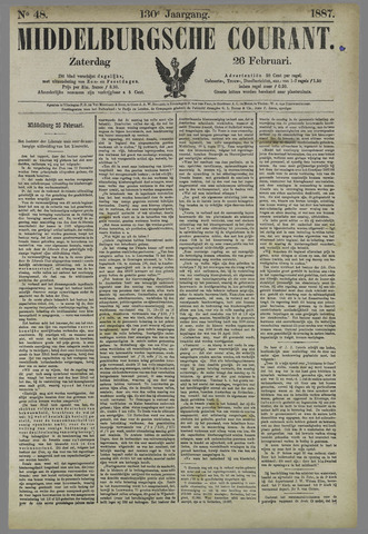 Middelburgsche Courant 1887-02-26