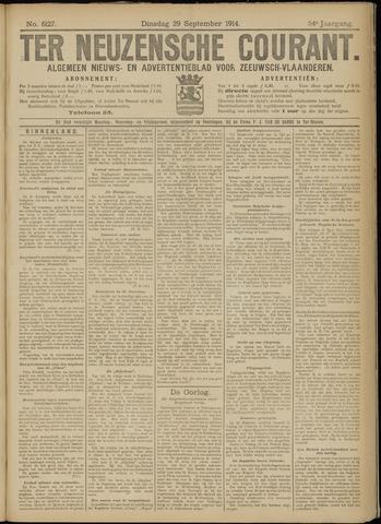 Ter Neuzensche Courant. Algemeen Nieuws- en Advertentieblad voor Zeeuwsch-Vlaanderen / Neuzensche Courant ... (idem) / (Algemeen) nieuws en advertentieblad voor Zeeuwsch-Vlaanderen 1914-09-29