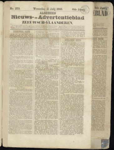 Ter Neuzensche Courant. Algemeen Nieuws- en Advertentieblad voor Zeeuwsch-Vlaanderen / Neuzensche Courant ... (idem) / (Algemeen) nieuws en advertentieblad voor Zeeuwsch-Vlaanderen 1866-07-11