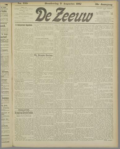 De Zeeuw. Christelijk-historisch nieuwsblad voor Zeeland 1917-08-02