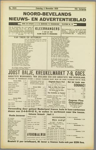 Noord-Bevelands Nieuws- en advertentieblad 1938-11-05