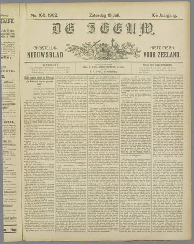 De Zeeuw. Christelijk-historisch nieuwsblad voor Zeeland 1902-07-19